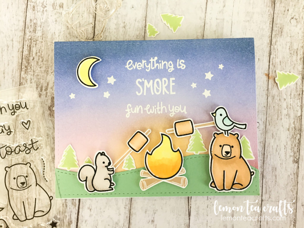 lawn fawn love you s'more handmade card