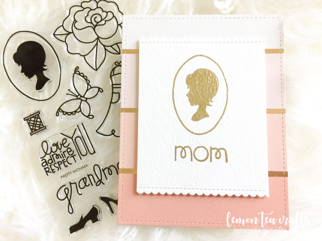 paper smooches - pretty momma handmade mother's day card