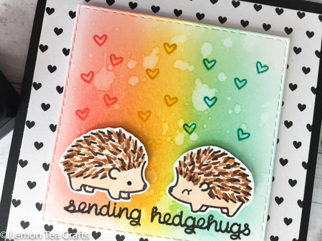Lawn Fawn Hedgehugs Homemade cards