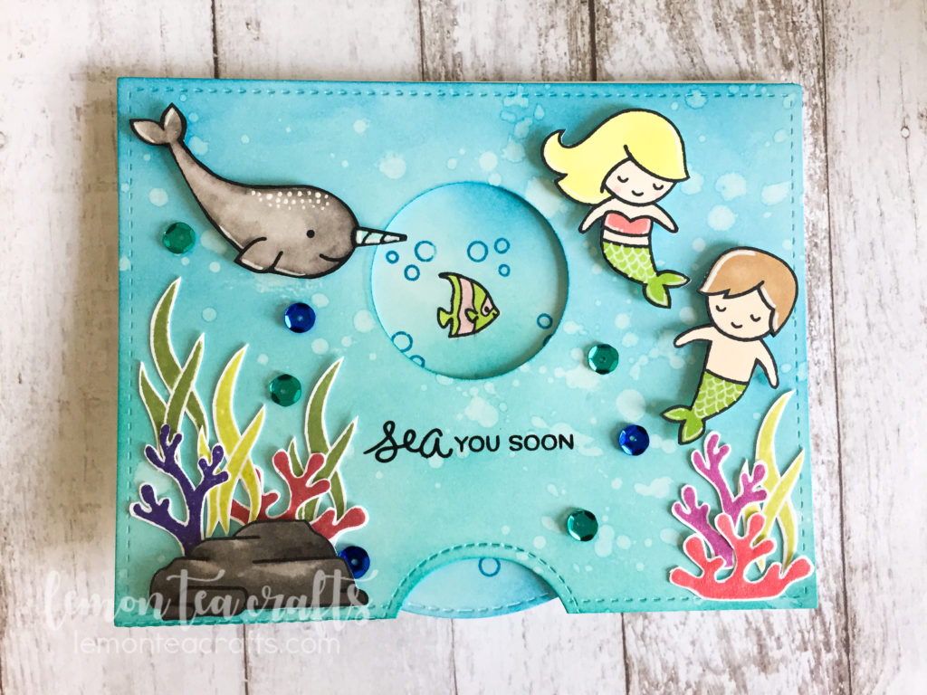 lawn fawn mermaid for you handmade card