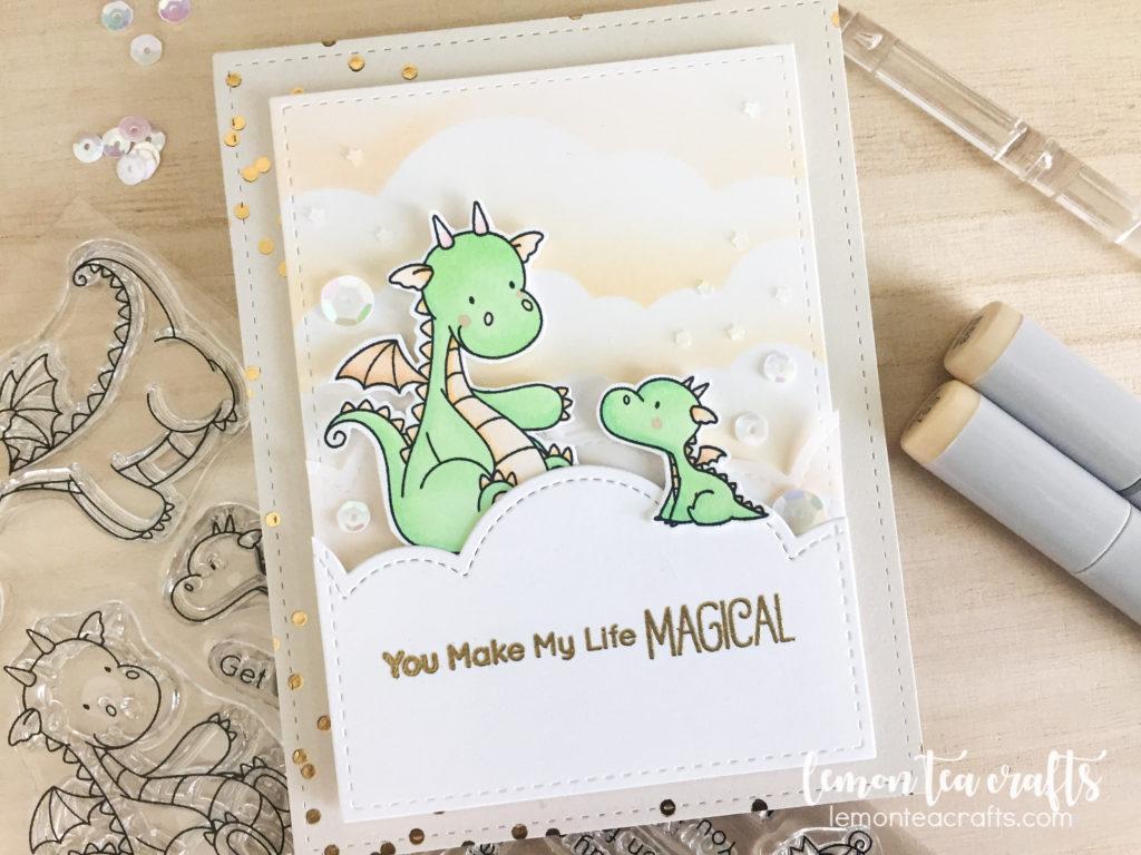 MFT Stamps - BB Magical Dragons