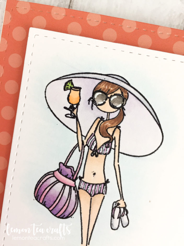 Stamping Bella Uptown Girl - Sandy and her Sombrero Handmade Card