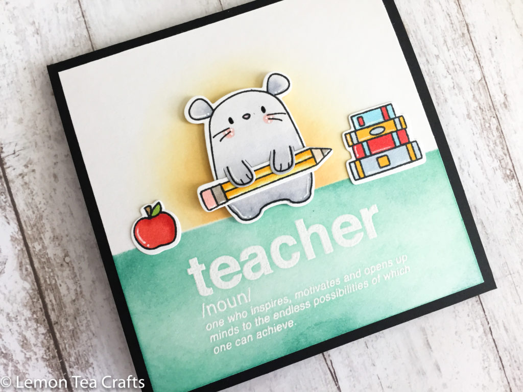 Handmade Teacher Appreciation Card featuring Mama Elephant Page Huggers