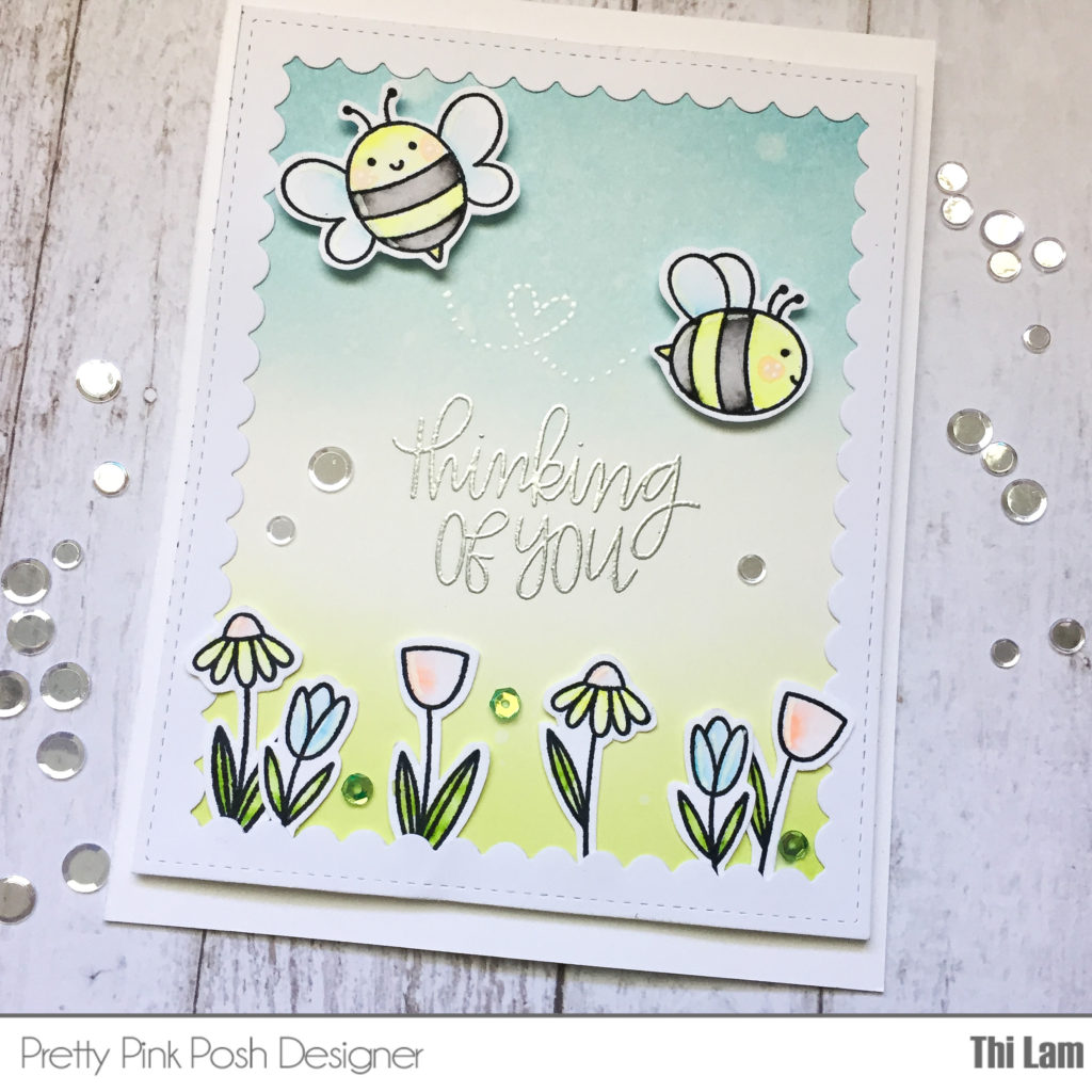 Bee handmade card