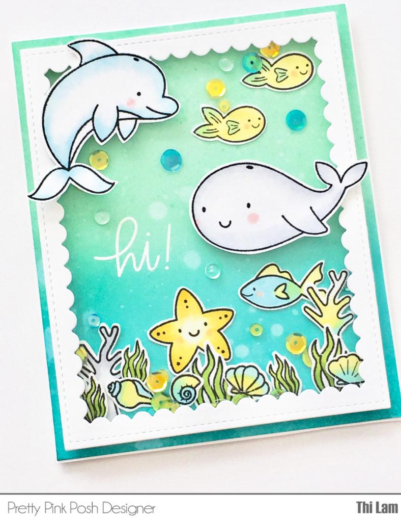 Pretty Pink Posh Sea Friends Card