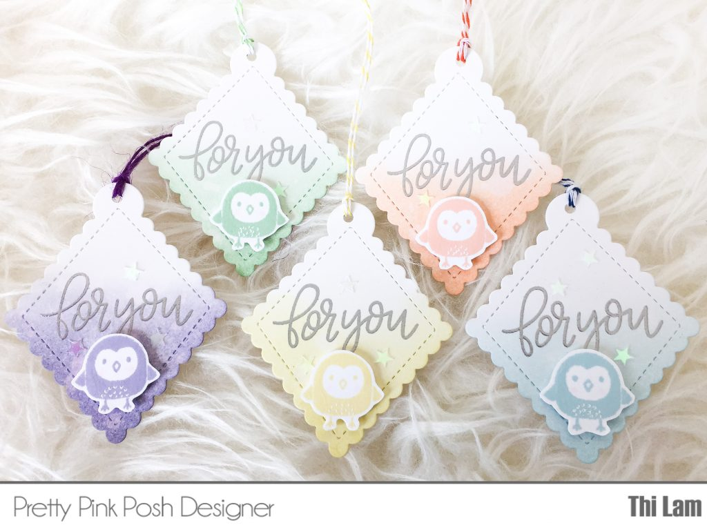 Pretty Pink Posh handmade gift tags