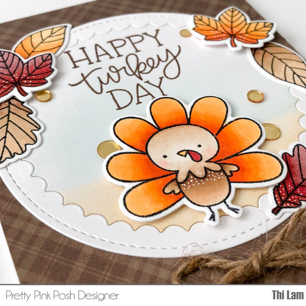 Pretty Pink Posh Happy Turkey Handmade Card