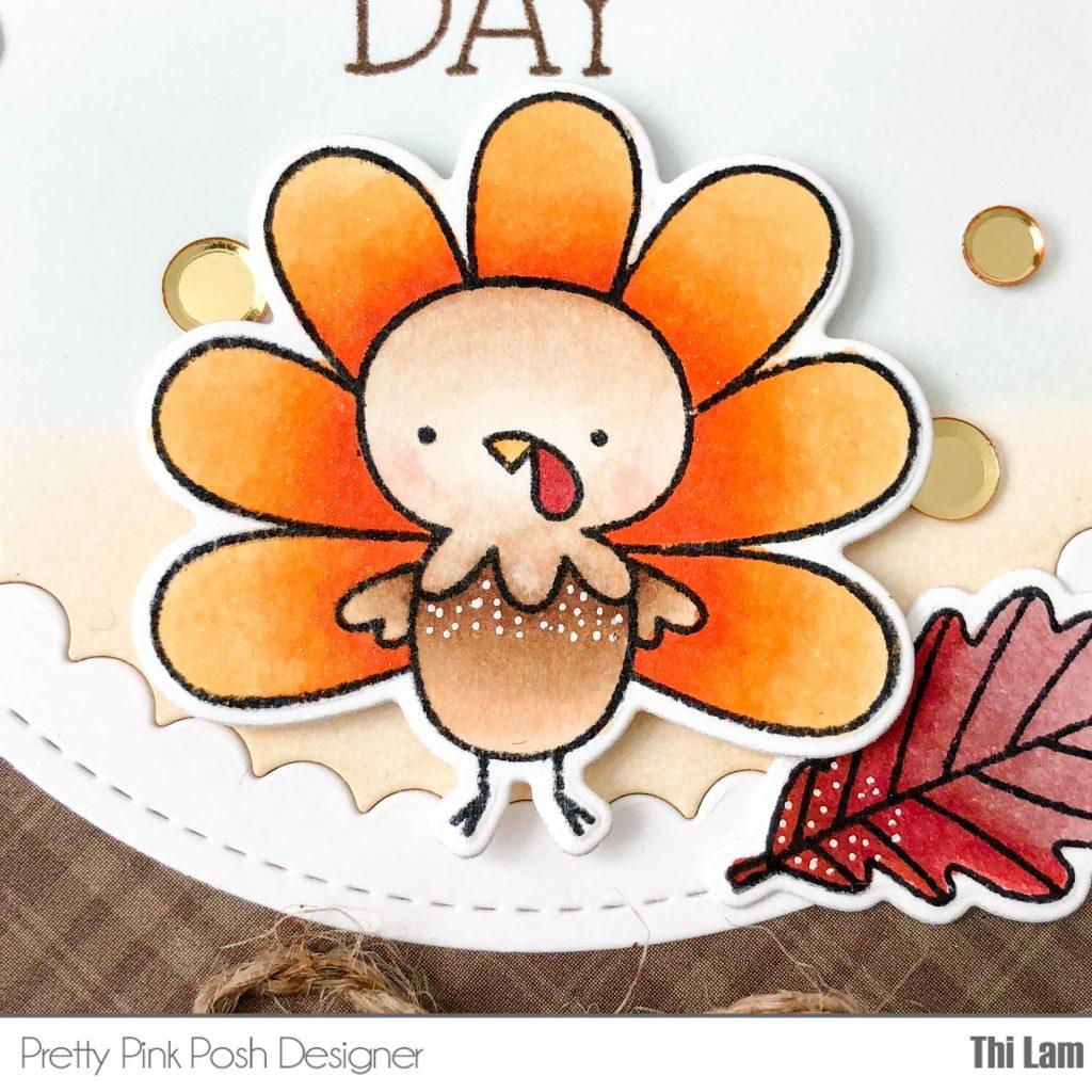Pretty Pink Posh Happy Turkey Handmade Card