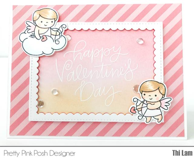 Pretty Pink Posh Cupid Valentine's Day Card