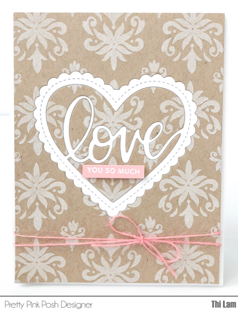 Pretty Pink Posh Valentine's Day card