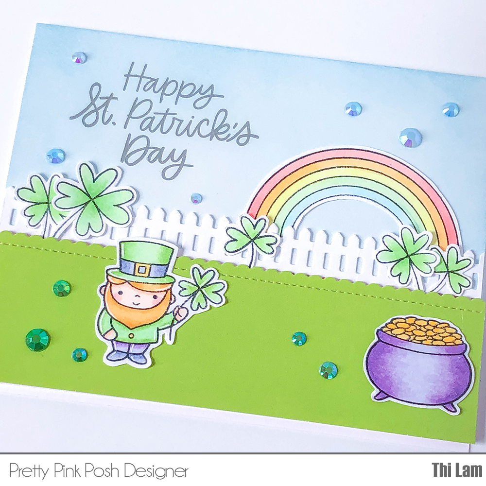 Pretty Pink Posh St. Patrick's Day Card