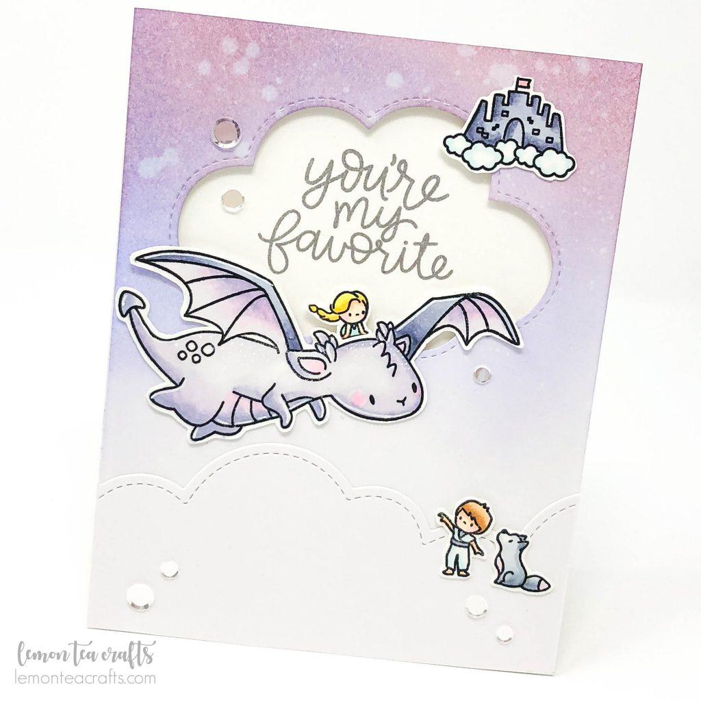 Mama Elephant My Dragon and Me - Lemon Tea Crafts handmade card