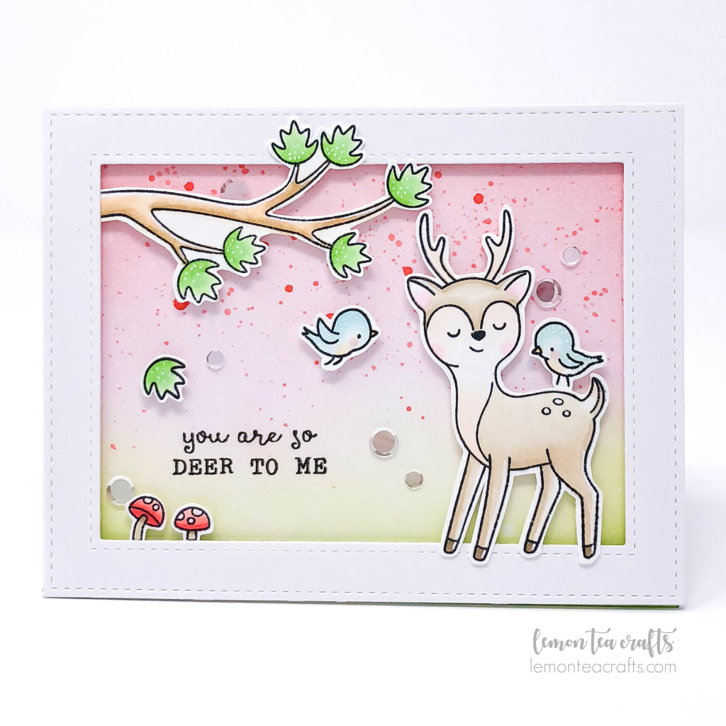 Deer Friend by Hello Bluebird Stamps handmade by Lemon Tea Crafts