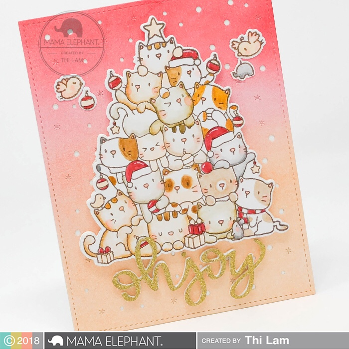 MAMA ELEPHANT Oh Kitty Tree   Stamp Highlights - Lemon Tea Crafts