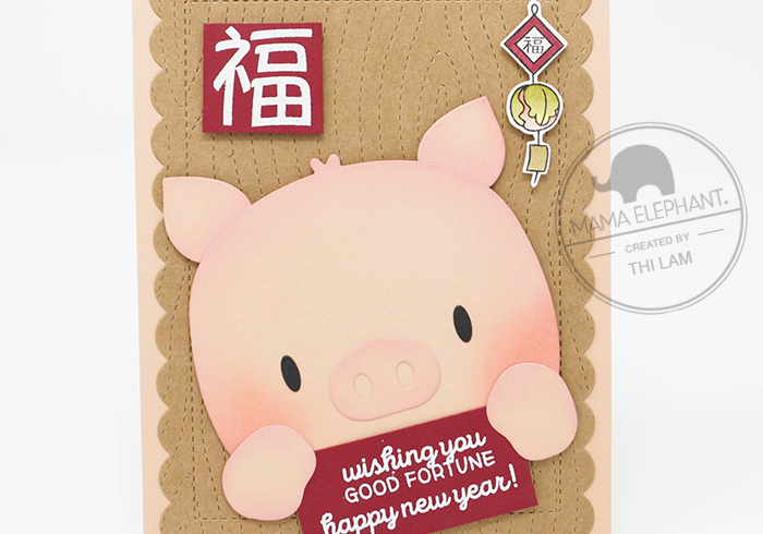 Mama Elephant Lunar New Year Card - Year of the Pig 2019
