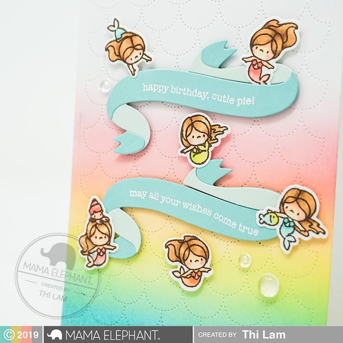 Little Mermaiden Agenda clear stamp Mama Elephant