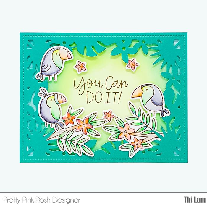 PRETTY PINK POSH Tropical Toucans | June Blog Hop - Lemon Tea Crafts