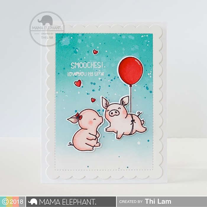 Mama Elephant Hogs and Kisses