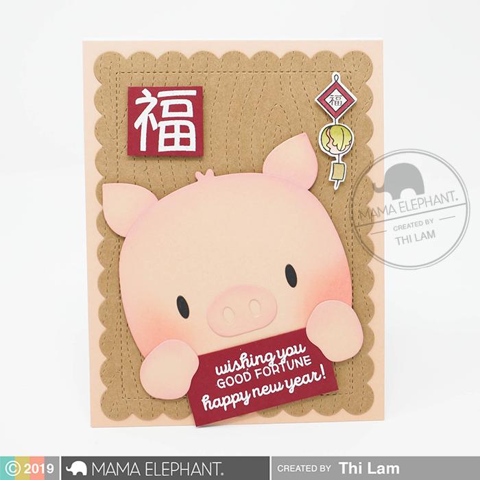 Mama Elephant Lunar New Year Card - Year of the Pig 2019